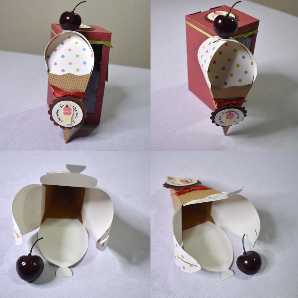 Ice Cream Cone Box Favor
