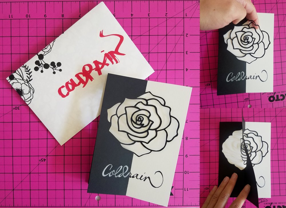 Rose Carved Card