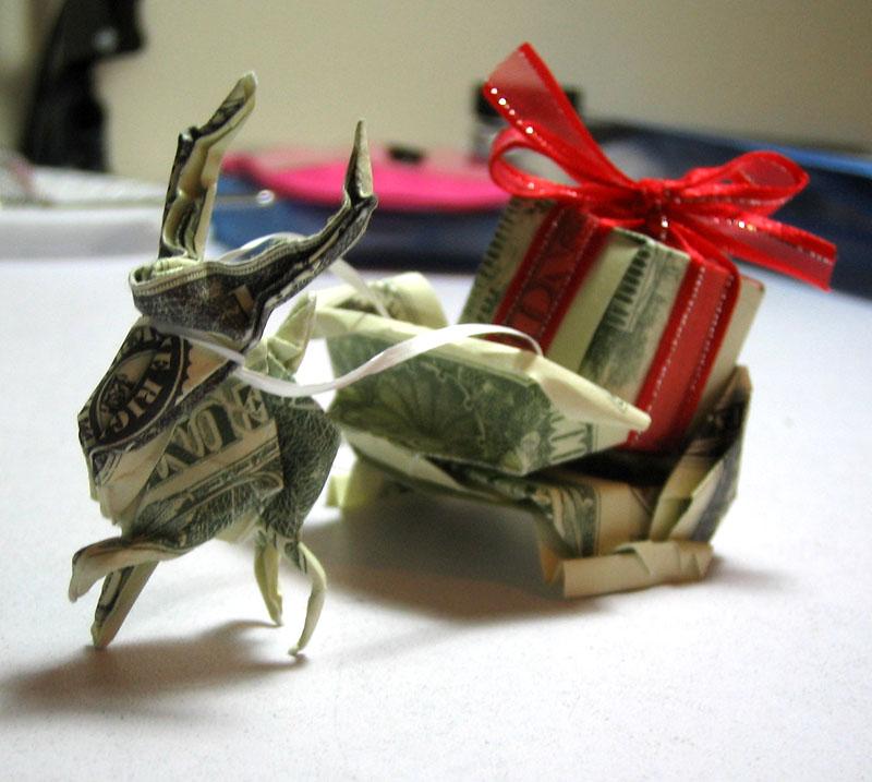 Buck Dollar Bill Origami Moneygami