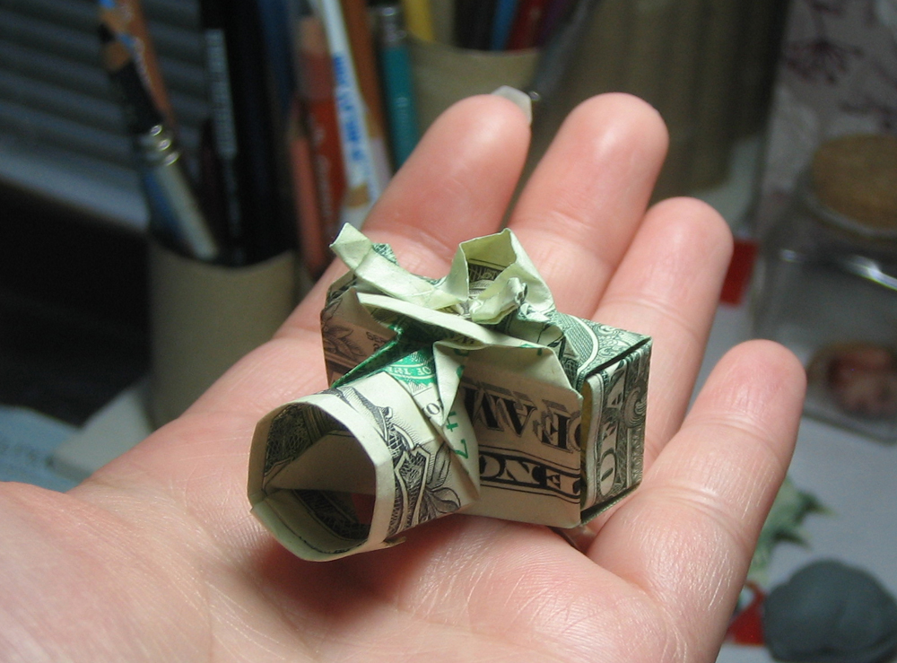 Camera Dollar Bill Origami Moneygami