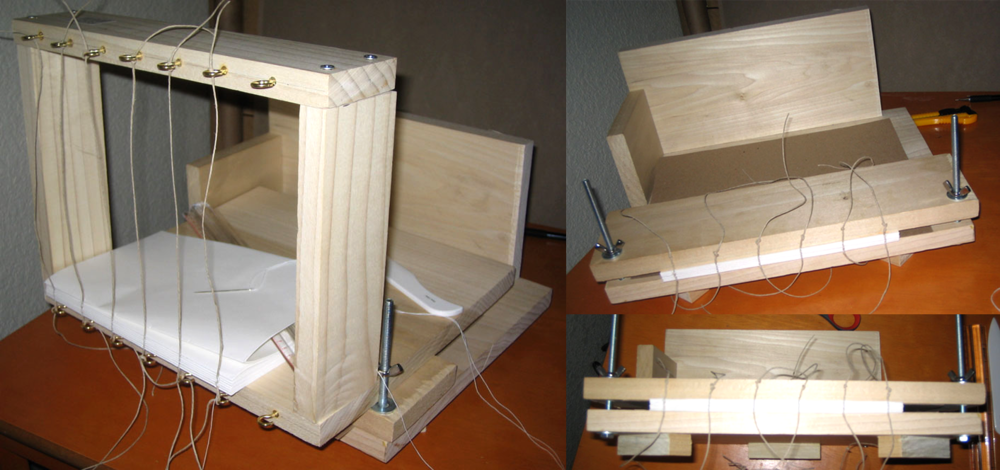 Handmade Sewing Frame and Book Press