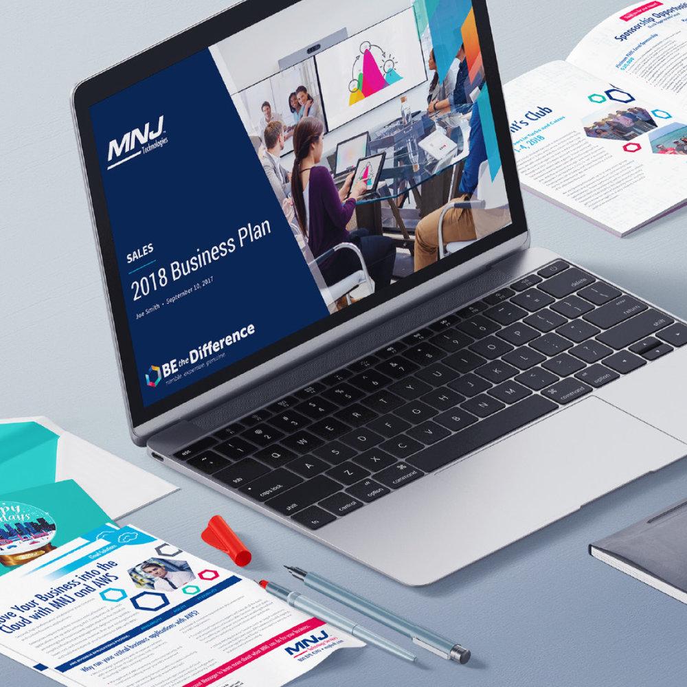 MNJ Technologies - Branding, Print Design, Website Design