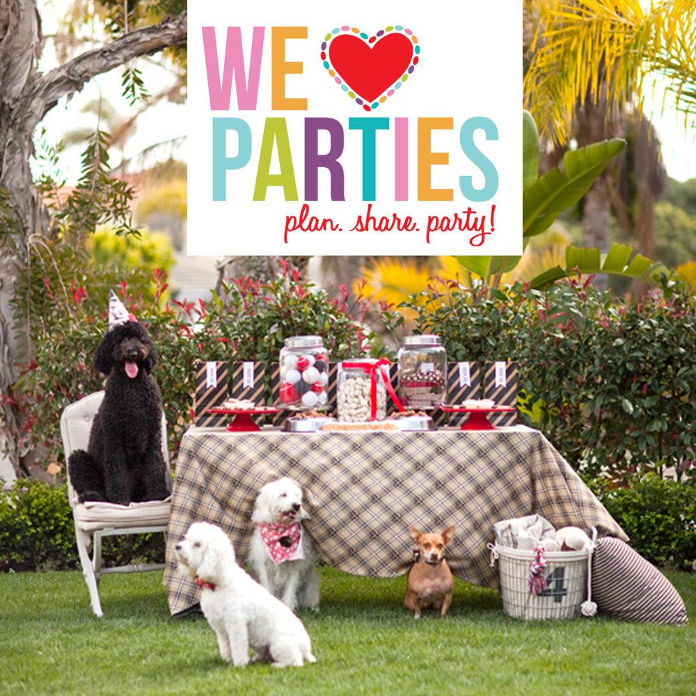 We Heart Parties - Website Design