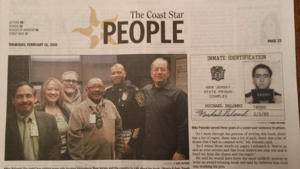 The Coast Star People Mike Palombi speaking at Passaic Jail, New Jersey