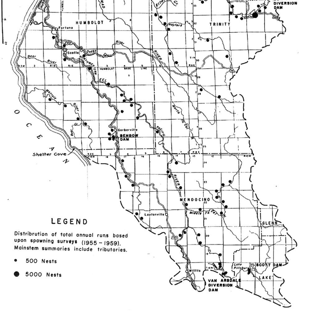 USFWS (1960) Eel River Redd Map