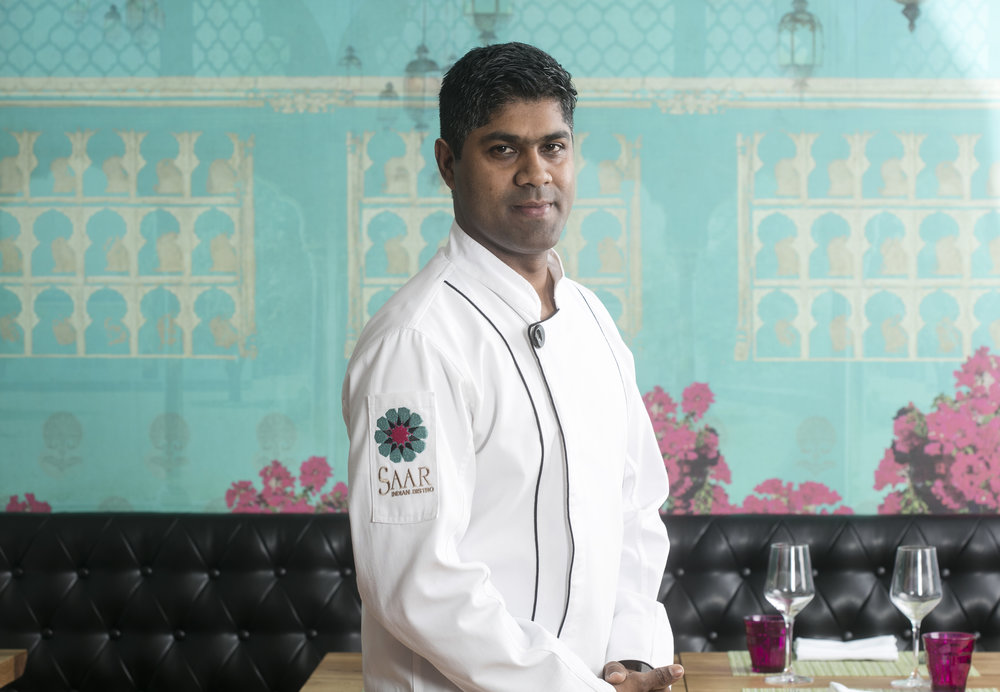 Chef Chandramohan Krishnaswamy - Chef Chandramohan Krishnasamy has 17 years of experience in Indian baking, confectionary, cooking, and restaurant management.Moving from prestigious positions at various properties belonging to the Taj Group of Hotels in India, Chef Krishnaswamy moved to the United States and has since helmed several Indian restaurants in the US and in India. Since 2017, he owns and operates Saar Catering with Chef Hemant Mathur.