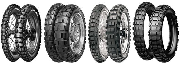 Dæk med grovere dækmønster. En dæk af denne type anbefales til kursus.