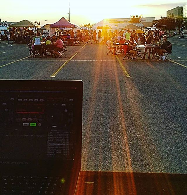 Getting nostalgic for #summer #dj ing at #calgarynightmarket.  #Calgary #music #summertime #southcenter #calgaryalberta #alberta