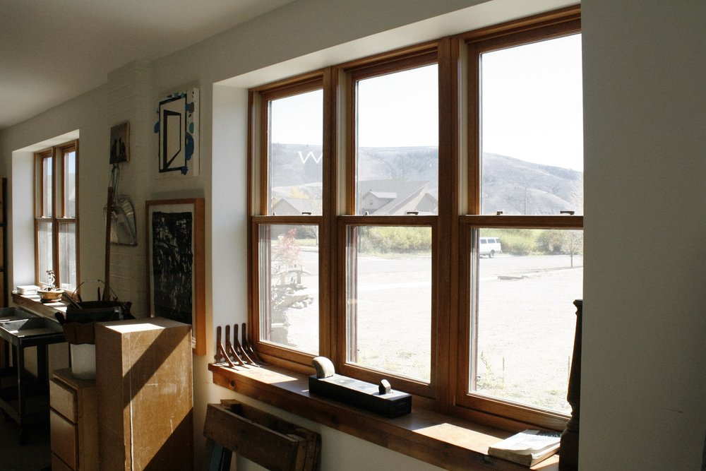 Window install with sills and trim