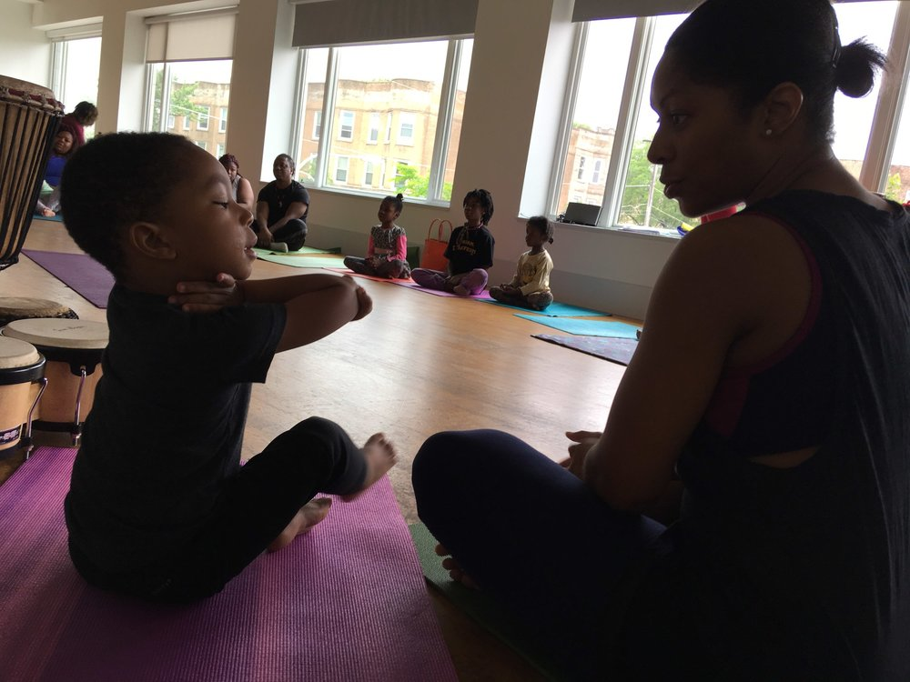 New Partnerships - As the spatial footprint on the Arts Block continues to expand, Arts + Public Life continues to grow its partnerships with community-based organizations. Yoga has expanded to include kids jamm, a family yoga class where caregivers and children explore the mind-body connection together, cultivate moments of calm and create loving energy through music and movement in community with other families.