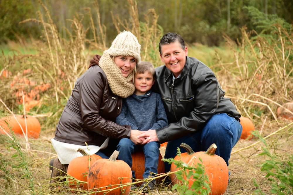 Family Picture at a pumpkin patch 2018. Im happy to be so blessed with this little guy and wife (Im on the left!)