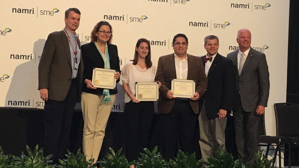 The Texas A&M team took home first place during the Blue Sky Competition for their paper on using advanced manufacturing to address civil engineering restoration. | Image: North American Manufacturing Research Conference