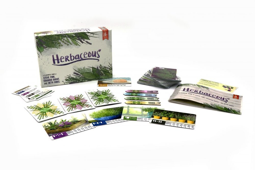 Herbacious - Herbacous is a set collection card hoarding game in which players are drawing herbs off the top of a deck and deciding if they would like to keep it for their private collection or place it into the community garden. This game challenges players as they are pushing their luck against one another and need to properly time when they'll pot their plants into their varying containers. This game takes about a minute to learn and plays in 15-20 minutes. As long your children can understand the different sets they'll need to collect, they'll be able to play this game. This is also a fantastic travel game and I've played on a plane ride more than once!