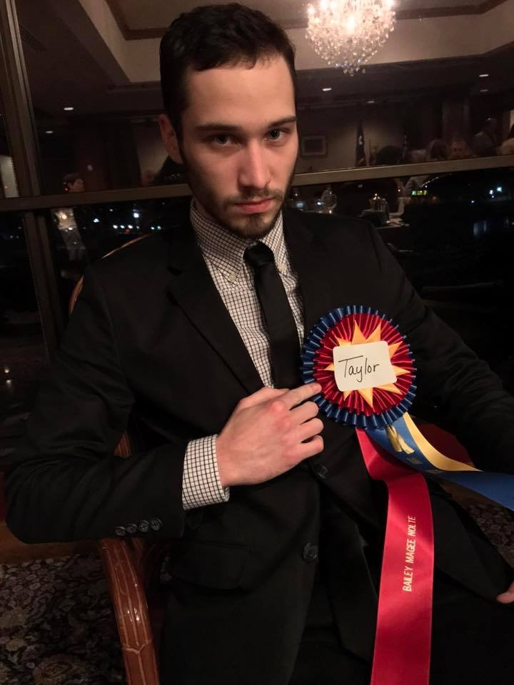 Awards banquets are always a good starting point because you can dress them up in ribbons they claim as their own. - B