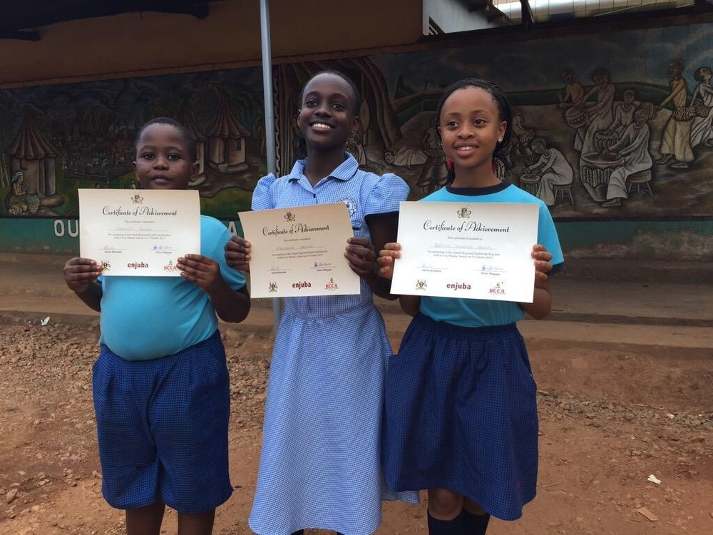 Congratulations to the young people who have achieved such great success through the Enjuba Spelling Bee competitions in Central Uganda. Spelling bees are effective in helping kids to develop literacy and life skills.  We encourage you to learn more about this worthy project and join us in supporting the next generation.  http://www.spellingbee.ug/