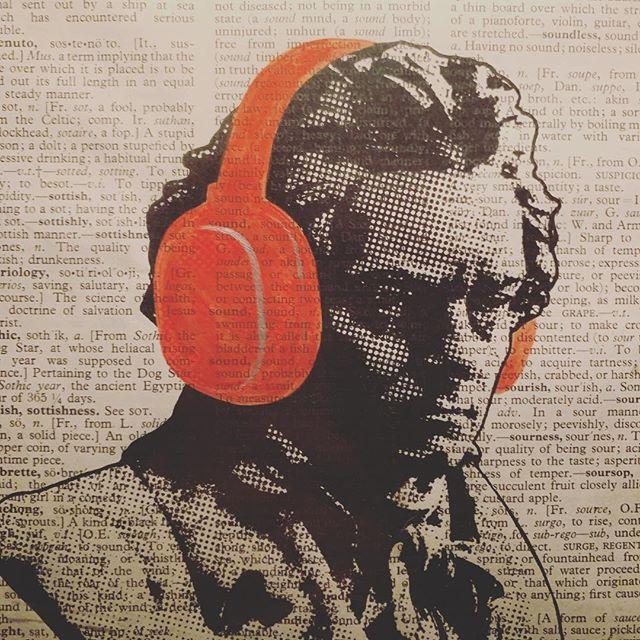 OG. #beethoven #ludwigvanbeethoven #classicalmusic #og #modernart #mashup #headphones @patternbar