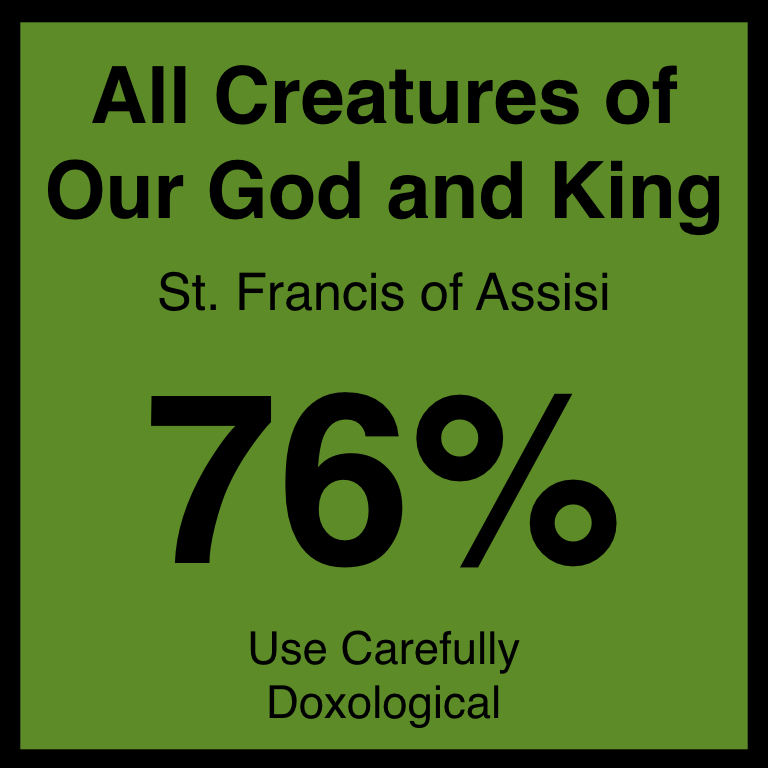All Creatures of Our God and King - Article Coming Soon…Hymnary.org ArticleSpotifyYouTube