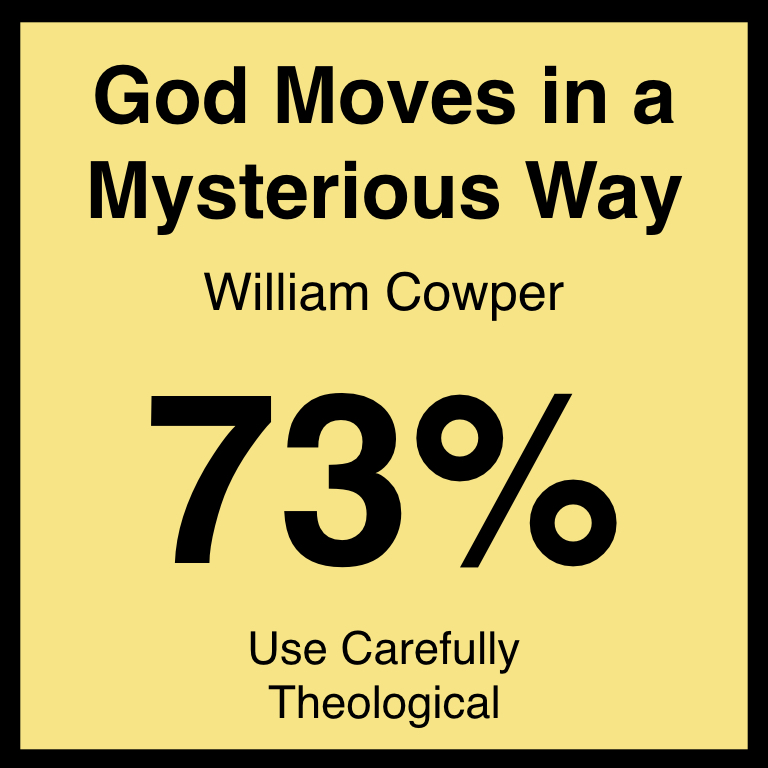 God Moves in a Mysterious Way - Check Out Our ArticleHymnary.org ArticleSpotifyYouTube
