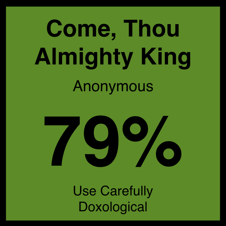Come Thou Almighty King - Article Coming SOonHymnary.org ArticleSpotifyYouTube