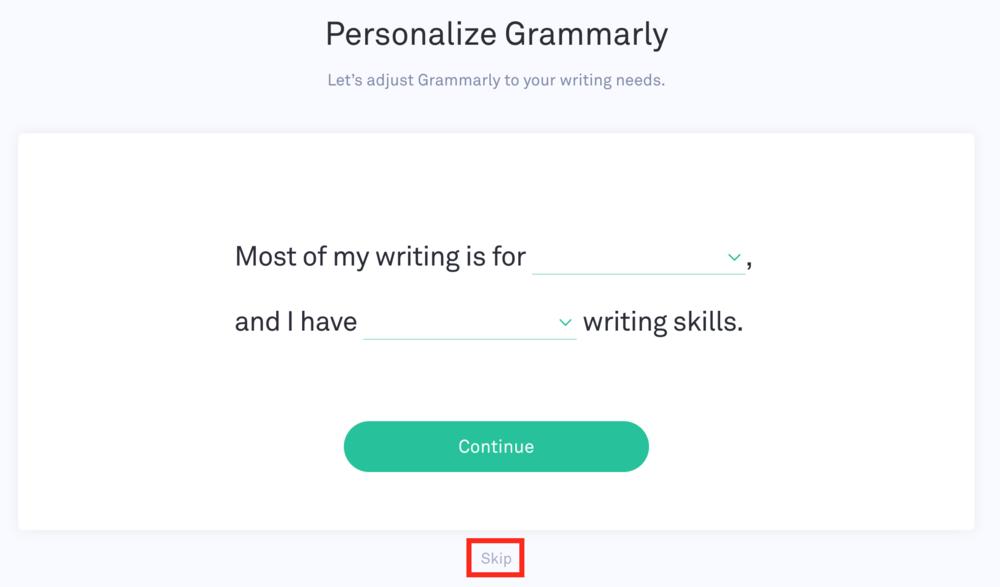 Grammarly Editing 2