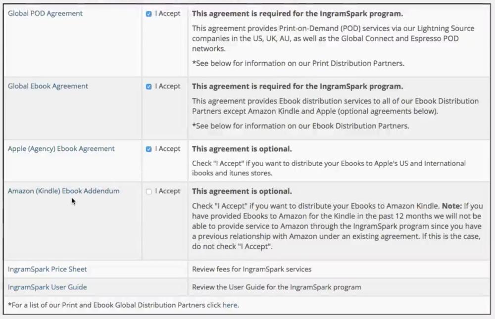 Ingramspark Agreements
