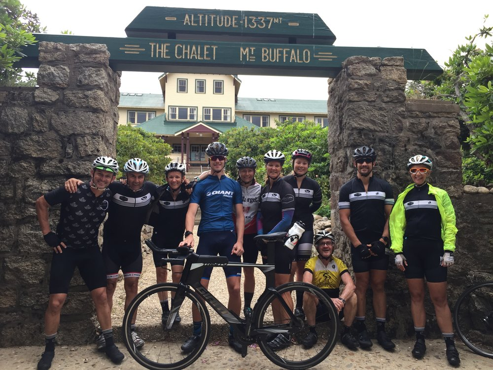 Mt Buffalo (Vic was too tired to stand up)