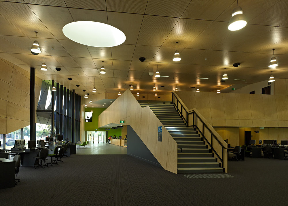 Paul Morgan Architects NMIT Student Centre, Epping interior