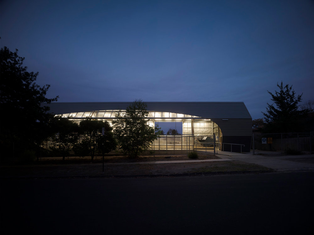 Paul Morgan Architects Box Hill Institute, Building Barn exterior view
