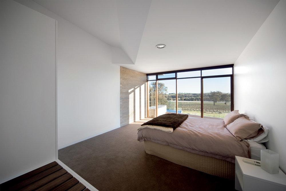 Paul Morgan Architects Avenel House self-sustaining interior bedroom
