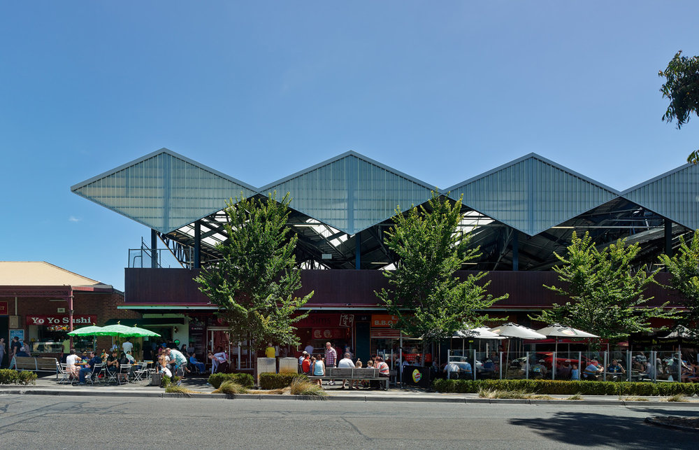 Paul Morgan Architects South Melbourne Market Roof exterior