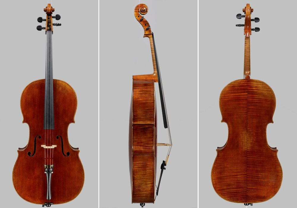 A Cello made for J&A Beare, now played by the Head of the Shanghai Conservatory Cello Department
