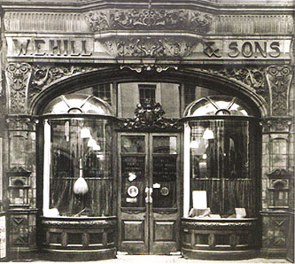 W. E. Hill & Sons - Founded in 1887, W. E. Hill & Sons built a long and distinguished history of expertise, dealing, instrument and bow making. The acquisition of the company by J&A Beare directors Simon Morris, Steven Smith, distinguished violinmakers Stefan-Peter Greiner, Robert Brewer Young, and Hill bowmaker Derek Wilson marked its return to London. The new Hill workshop is located in the historic coach house and stables of Burgh House from 1704 in London Hampstead.The Hill tradition of making fine instruments and bows continues in the London atelier, where notable, historical examples used by W. E. Hill and Sons consistently inspire new work.Under the direction of Robert Brewer Young and Stefan-Peter Greiner, violins after Stradivari's Messiah, the best of Bergonzi and the early work of Guarneri del Gesu are being made as part of the Hill heritage. New Hill bows continue to offer the excellence of an enduring English tradition. Derek Wilson, who joined Hill in 1978, oversees the making of each bow.Since 1762 the Hill name has represented a combination of craftsmanship and the highest standards of expertise that the company continues to offer.Robert is also the designated researcher for the Hill Archive, which continues to provide insights into the provenance and history of eminent instruments.