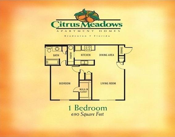 1 Bedroom / 1 Bathroom -