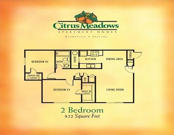 2 Bedroom / 1 Bathroom -