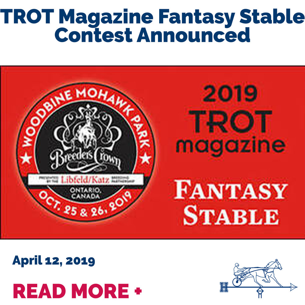 TROT Magazine Fantasy Stable Contest Announced