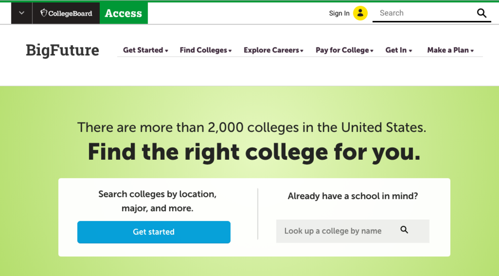 College Board website