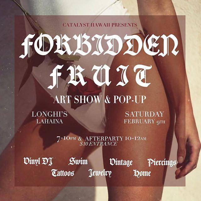 FEB 9 SATURDAY EVENING COME THROUGH ON THE CHECKERED FLOOR #forbiddenfruit #anoverflowingamountofbartenders
