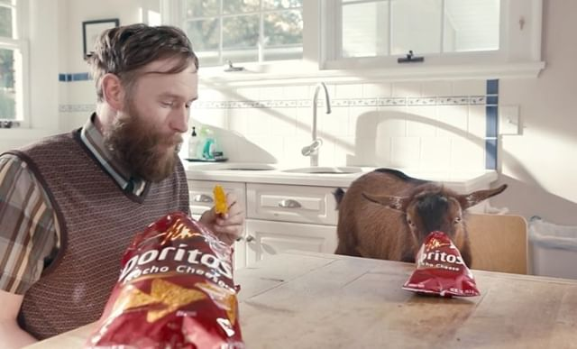 "Thanks @the.independent for today listing ""Goat 4 Sale"" as one of the 10 best Super Bowl commercials in TV history! Moose is still celebrating..."