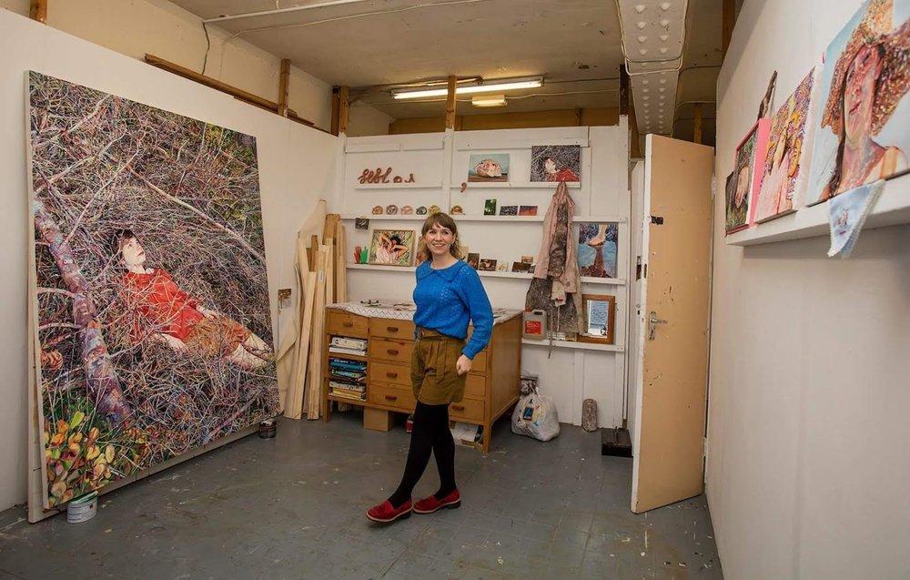 Ruth Murray in her Studio, Levenshulme