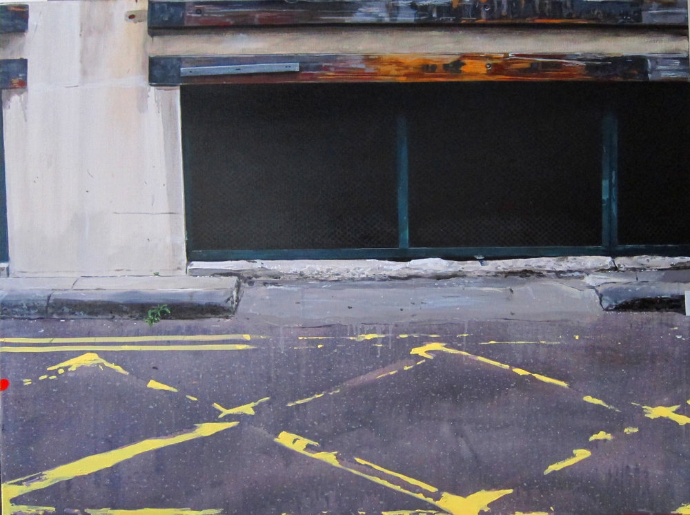 Narbi Price -  Untitled Kerbstone Painting  (2012)