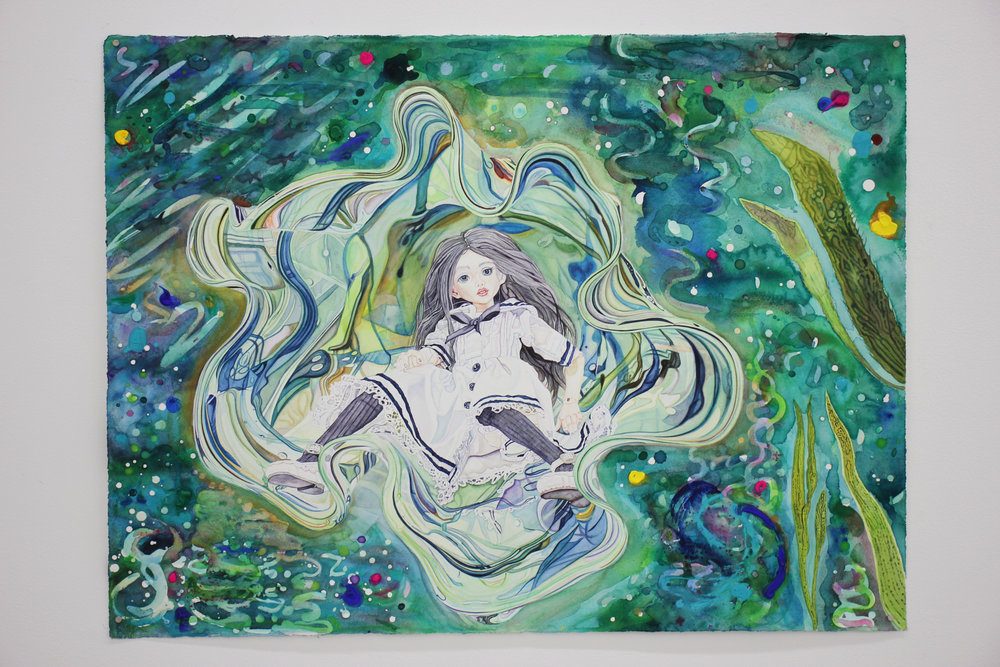 David Hancock -  Ophelia , watercolour (2017)