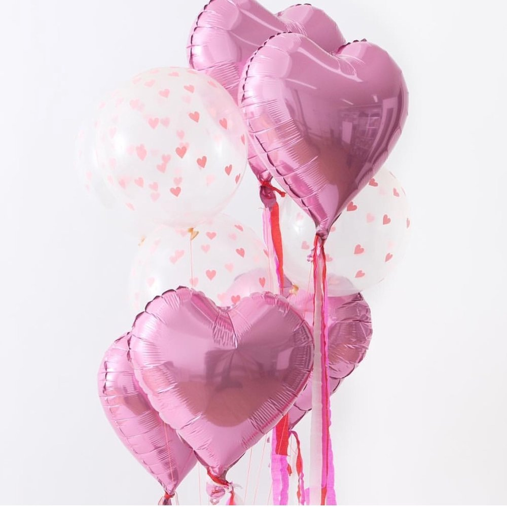Heart Shaped Balloons From Kit