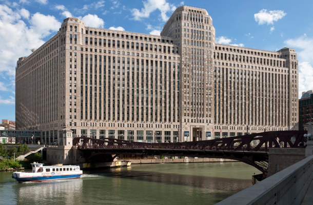 Located in the historic Merchandise Mart, an icon in Chicago's history since the 1930s - http://themart.com/