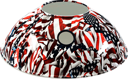 Armor Shields American Flag Grill Shield for the Big Green Egg
