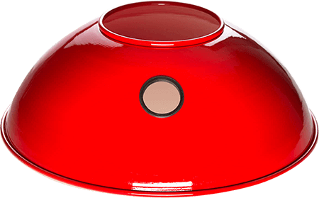 Armor Shields Original Red Grill Shield for the Big Green Egg