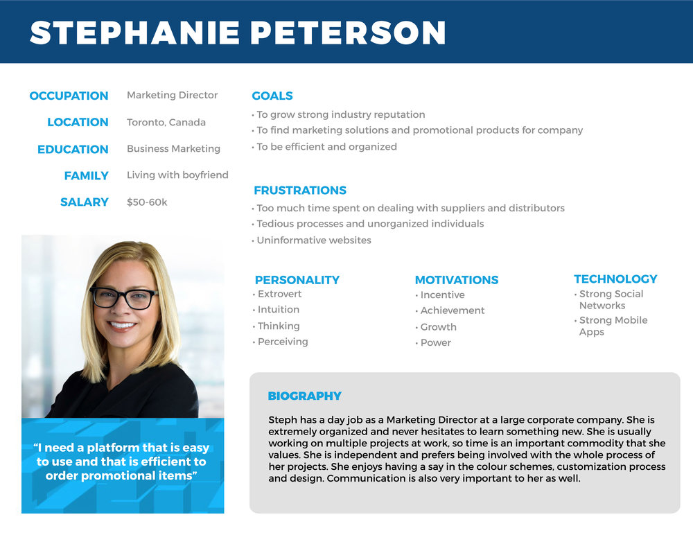 USER PERSONA 1: MARKETING DIRECTOR WORKING AT A LARGE CORPORATE COMPANY