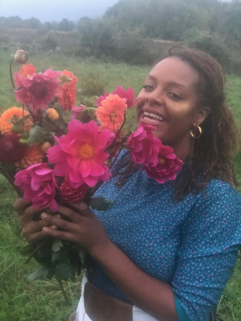 Jasmine Burems - A farmer, herbalist and entrepreneur. Born in Philadelphia, built in Brooklyn, and based in Millerton, NY. Jasmine is the Founder and Executive Director of the Institute of Afrofuturist Ecology, founder and Lead Grower for Claudine Field Apothecary, a biodynamic organic farm specializing in vibrant flowers and medicinal herbs, she is also a Co-founder of Wildseed, a black- and brown-led, feminine-centered healing sanctuary established on 181 acres in the mid-Hudson Valley. Jasmine works collaboratively with many organizations and institutions to provide healing services and curate wellness spaces rooted in an anti-oppressive, trauma informed practice, inclusive of all gender identities. She has worked with National Crittenton: Catalyzing Social and Systems Change for Girls, Columbia University, Yale University, Brooklyn College, Brooklyn Museum, Museum of Contemporary African Diaspora Art, Black Women's Blueprint, Brownsville Community Justice Center, Hetrick-Martin Institute, Law for Black Lives, The Praxis Project and Planned Parenthood. Jasmine is a loving mother devoted to social, environmental, racial, and gender justice.