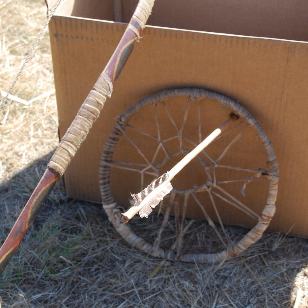 Arrow through hoop target.