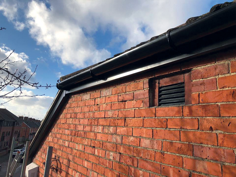 A completed fascia and soffit project on Frimley Road, Surrey.