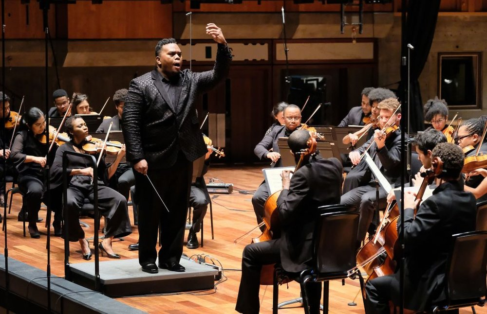 Conductor Anthony Parnther and the Chineke! Orchestra. Photo credit: Mark Allan